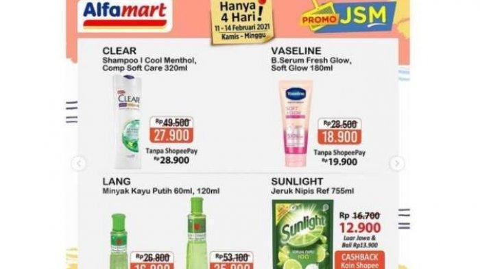 PROMO JSM Alfamart Scanharga Terbaru 14 Februari 2021, Ada Harga Diskon Spesial via ShopeePay Gopay