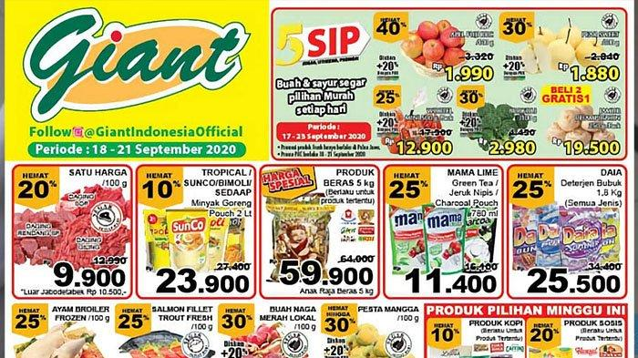 Katalog Promo Jsm Giant Terbaru 18 21 September Barang Murah Deterjen Minyak Goreng Serba Hemat Tribun Pontianak