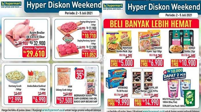 PROMO JSM Hypermart Weekend 2 - 5 Juli 2021, Daging Buah-buahan Segar Beras Gula Pasir Hemat Banget