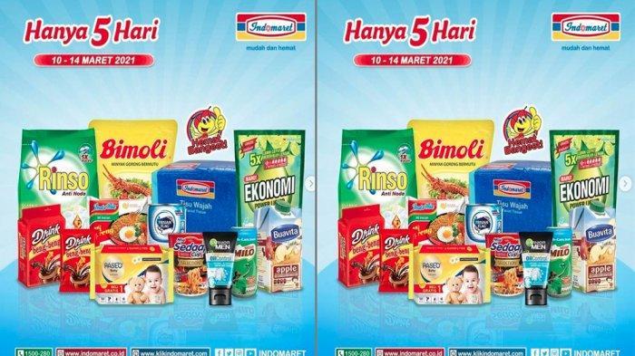 PROMO JSM INDOMARET 14 Maret 2021 Belanja Hemat Minyak Goreng hingga Susu, Cek Promosi Bulan Ini