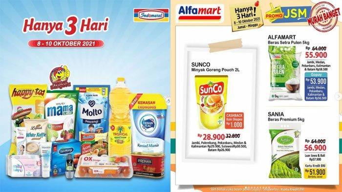 PROMO JSM INDOMARET 8 - 10 Oktober 2021 dan JSM Alfamart 8-10 Oktober 2021, Hemat & Murah Banget
