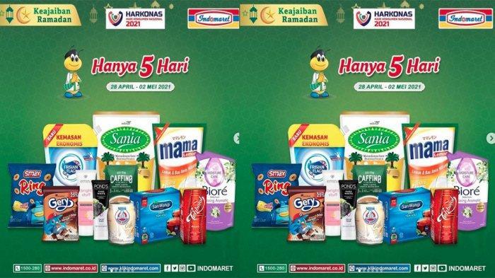 UPDATE Promo JSM Indomaret Hari Ini 2 Mei 2021, Diskon Minyak Goreng Snack & Cek Promosi Bulan Ini