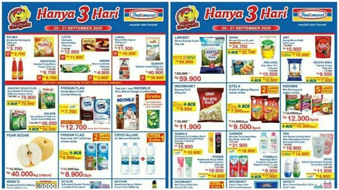 Katalog Promo Jsm Indomaret 25 27 September 2020 Beras Susu Hingga Snack Hemat Banget Hanya 3 Hari Tribun Pontianak