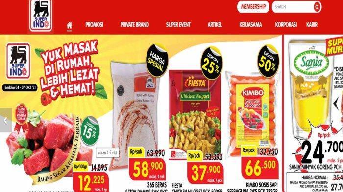 PROMO Superindo 4-7 Oktober 2021 Paling Murah Minggu Ini, Diskon 50% & Minyak Goreng Super Murah