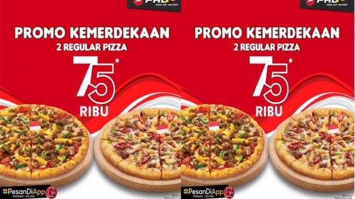 PROMOPHDPizza Hut Delivery 17 Agustus 2020, Promo Kemerdekaan 2 Pizza Regular Hanya Rp 75 Ribuan