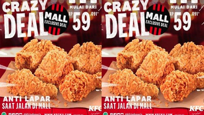 PROMO KFC Hari Ini 14 Maret 2021, Promo 5 Ayam + 3 Nasi Hemat hingga KFC Crazy Deal Mulai 59 Ribuan