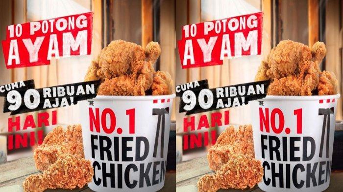 PROMO KFC Hanya Hari Ini Kamis 10 Juni 2021, Promo TBT Nikmati 10 Ayam hanya Rp 90 Ribuan Saja