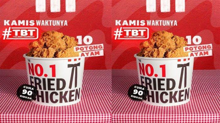 PROMO KFC Hanya Hari Ini Kamis 14 Oktober 2021, Nikmati Promo TBT 10 Potong Ayam Cuma Rp 90 Ribuan