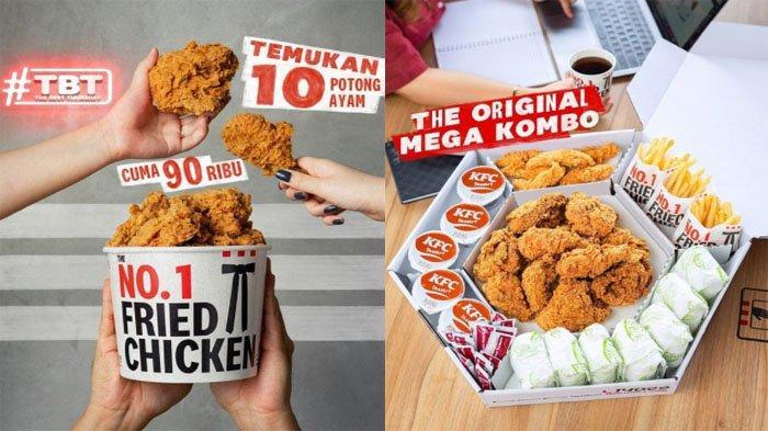 PROMO KFC Hanya Hari Ini Kamis 16 September 2021, Promo TBT Nikmati 10 Ayam Goreng Cuma Rp 90 Ribu