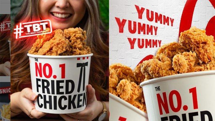 PROMO KFC Hanya Hari Ini Kamis 23 September 2021, Promo TBT 10 Potong Ayam Goreng Hanya 90 Ribuan