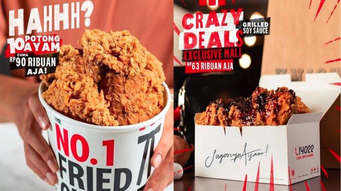 PROMO KFC Hanya Hari Ini Kamis 3 Juni 2021, Nikmati Promo TBT 10 Potong Ayam Favorit Cuma 90 Ribuan