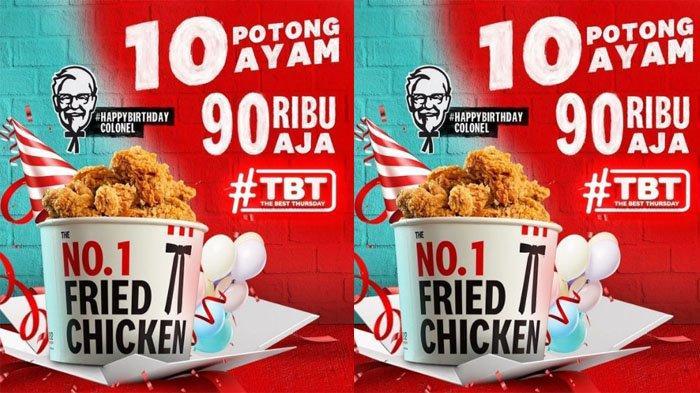 PROMO KFC Hanya Hari Ini Kamis 9 September 2021, Nikmati 10 Potong Ayam Goreng Seharga 90 Ribu Saja