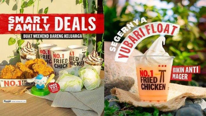 PROMO KFC Hari Ini 10 Oktober 2021, Nikmati Segarnya Yubari Float dan Smart Family Deal Hemat Banget