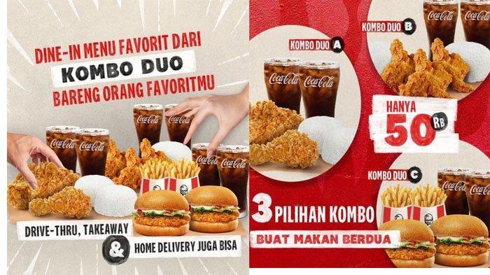 PROMO KFC Hari Ini 10 September 2021, Menu Pilihan Paket Kombo Ayam Winger atau Burger Cuma 50 Ribu