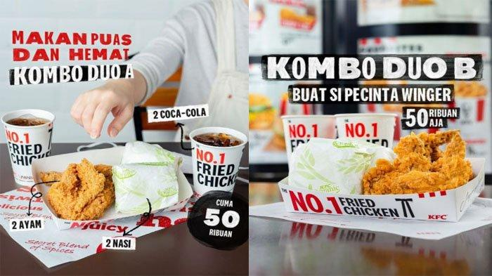 PROMO KFC Hari Ini 12 Oktober 2021, Menu Kombo Duo dengan Pilihan Paket Ayam Winger Burger 50 Ribuan