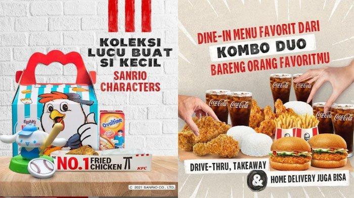 PROMO KFC Hari Ini 13 September 2021, Nikmatnya Menu Kombo Duo hingga Koleksi Lucu Sanrio Characters