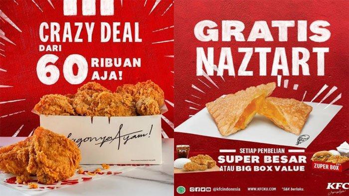 PROMO KFC Hari Ini 2 Agustus 2021, Crazy Deal Bisa Dapat 5 sampai 9 Potong Ayam KFC Mulai 60 Ribuan