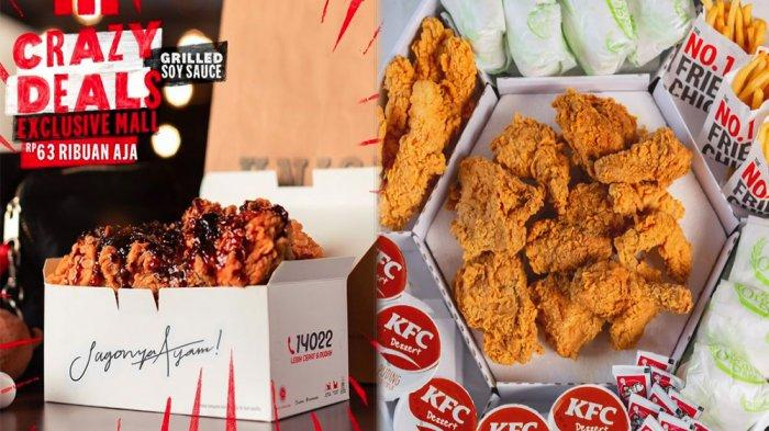 PROMO KFC Hari Ini 2 Juni 2021, Pilihan 5 Sampai 9 Potong Ayam Crazy Deals Mall Mulai 63 Ribuan Saja