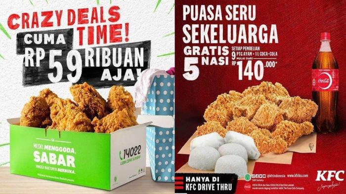 PROMO KFC Hari Ini 2 Mei 2021, Crazy Deals buat Buka Puasa 5 - 9 Potong Ayam Cuma dari Rp 59 Ribuan