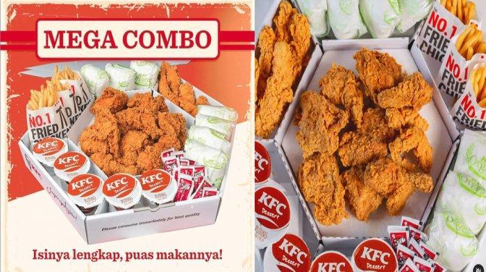 PROMO KFC Hari Ini 21 Juni 2021, Mega Combo Isi Lengkap Ayam Goreng KFC dan Pudding di KFC Terdekat