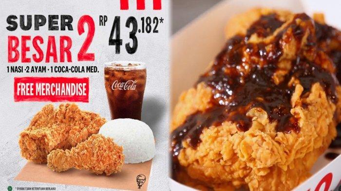 PROMO KFC Hari Ini 25 April 2021, Super Besar 2 KFC 1 Nasi 2 Ayam dan 1 Coca-cola di KFC Terdekat