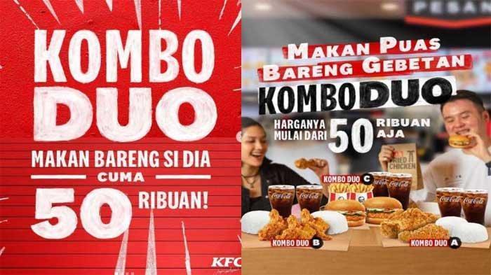 PROMO KFC Hari Ini 29 Agustus 2021, Pilihan 3 Menu KFC Kombo Duo Harga Hemat Cuma 50 Ribuan