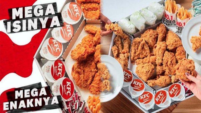 PROMO KFC Hari Ini 29 Juni 2021, Mega Kombo Menu Lengkap Chicken Strip dan Pudding di KFC Terdekat