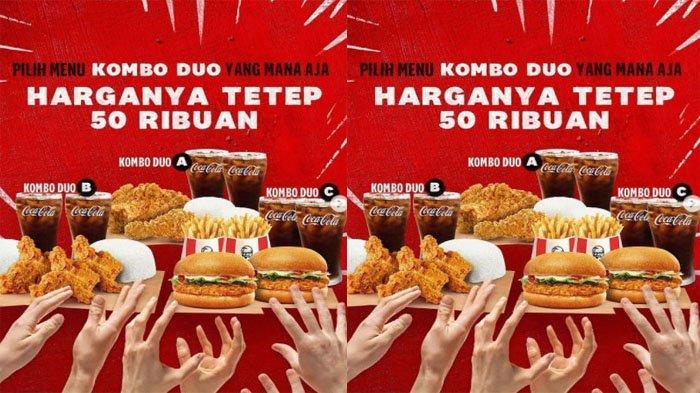 PROMO KFC Hari Ini 3 September 2021, Makan Hemat Berdua dengan Kombo Duo Cuma Mulai 50 Ribuan