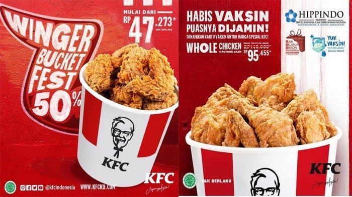PROMO KFC Hari Ini 4 Agustus 2021, Tunjukkan Kartu Vaksin dapat Harga Spesial KFC Whole Chicken