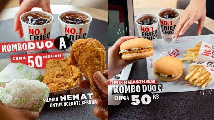 PROMO KFC Hari Ini Jumat 15 Oktober 2021, Ada Menu Kombo Duo Paket Ayam Winger Burger Cuma 50 Ribuan