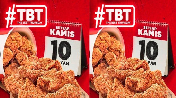 PROMO KFC Khusus Hari Ini Kamis 8 April 2021, 10 Potong Ayam KFC Cuma Rp 90 Ribu di KFC Terdekat