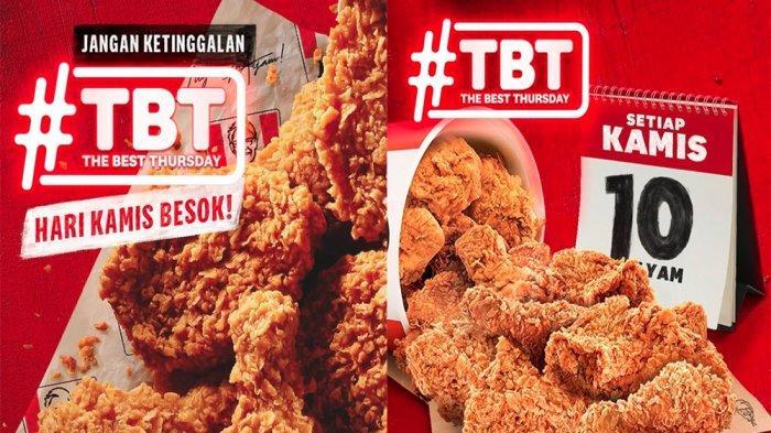 PROMO KFC Khusus Kamis 8 April 2021, Promo TBT 10 Potong Ayam KFC Cuma Rp 90 Ribu & KFC Crazy Deals