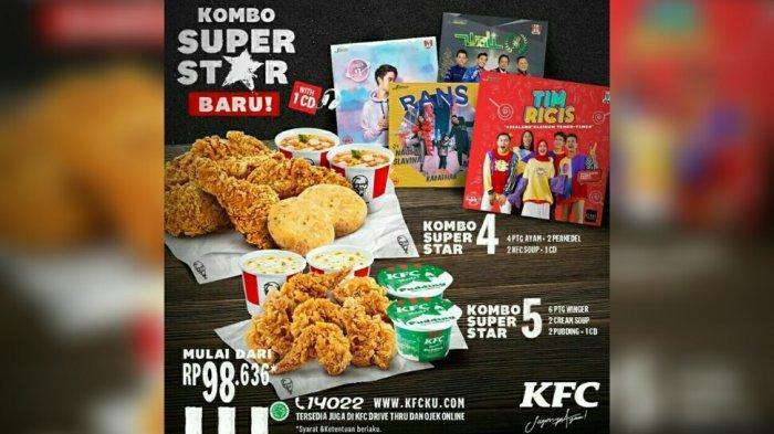 PROMO KFC Kombo Super Star Mulai Rp 98.636, Pilih Paket 4 ...