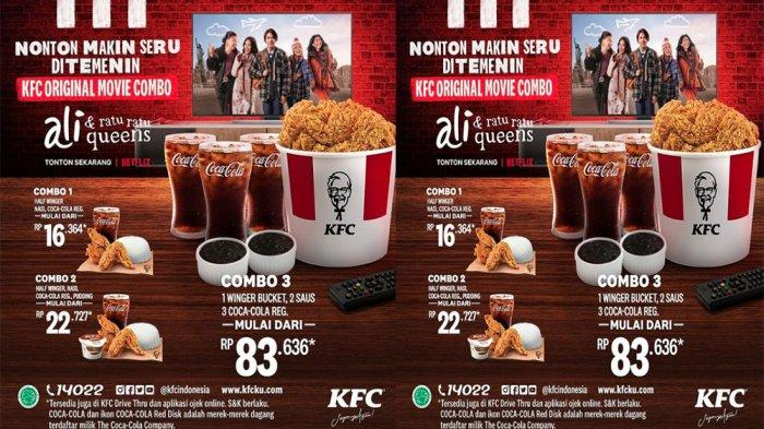 PROMO KFC Terbaru Hari Ini 18 Juni 2021, Pilihan Menu KFC Original Movie Combo Mulai dari 16 Ribuan