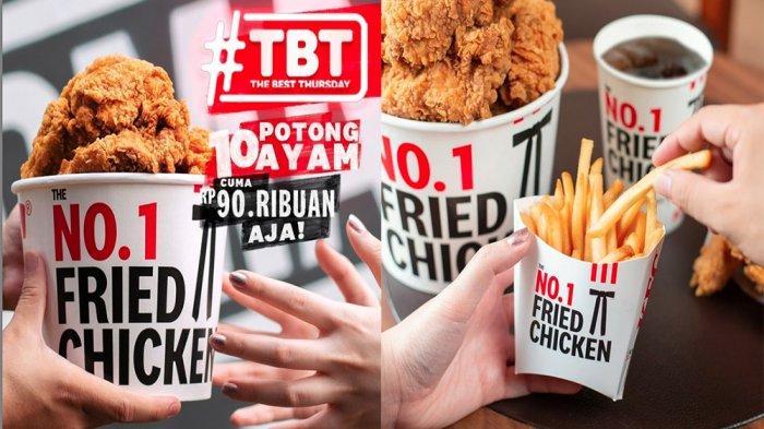 PROMO KFC Spesial Besok Kamis 27 Mei 2021, Promo TBT 10 Potong Ayam Goreng KFC Cuma Rp 90 Ribuan