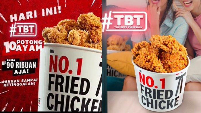 PROMO KFC Spesial Hari Ini Kamis 15 Juli 2021, Dapatkan 10 Potong Ayam Goreng KFC Hanya Rp 90 Ribuan