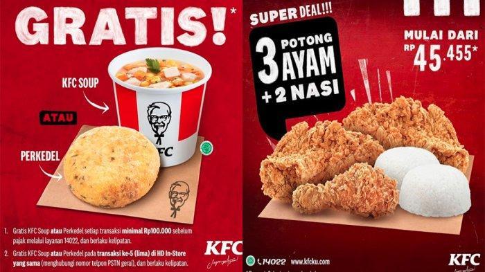 PROMO KFC Oktober 2020, 3 Ayam + 2 Nasi Mulai Rp 45.455 ...
