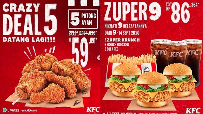 PROMO KFC Terbaru 14 September 2020, Crazy Deal 5 Nikmati ...