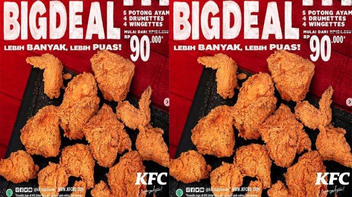 PROMO KFC Terbaru 24 - 28 Februari 2021, Promo Big Deal Lebih Banyak Lebih Puas Cuma Rp 90 Ribu