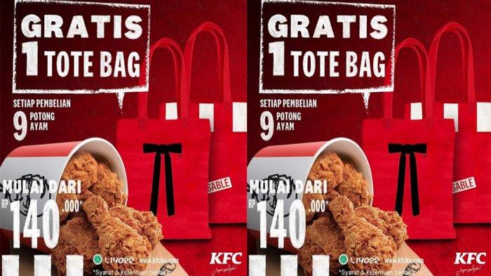 PROMO KFC Terbaru Desember 2020, Beli 9 Potong Ayam KFC Rp 140.000 Dapat Tote Bag Keren Gratis