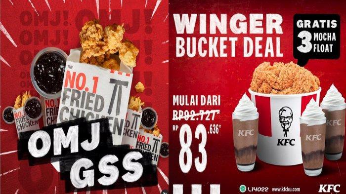PROMO KFC Terbaru Hari Ini 18 Mei 2021, Nikmati OMJ Grilled Soy Sauce & Winger Bucket Deal Rp 83.636