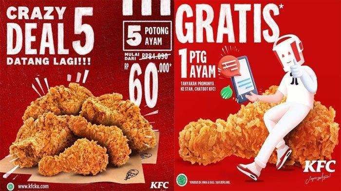 PROMO KFC Terbaru Hari Ini 20 Juli 2021, Promo Crazy Deal 5 Makan Puas 5 Potong Ayam Goreng Favorit
