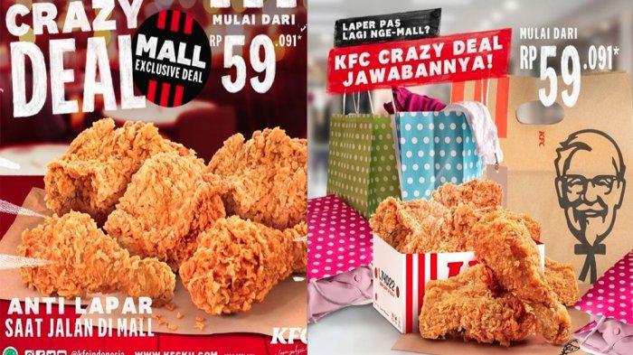 PROMO KFC Terbaru Hari Ini 21 Maret 2021, Nikmati KFC Crazy Deals Hanya Mulai Rp 59 Ribuan
