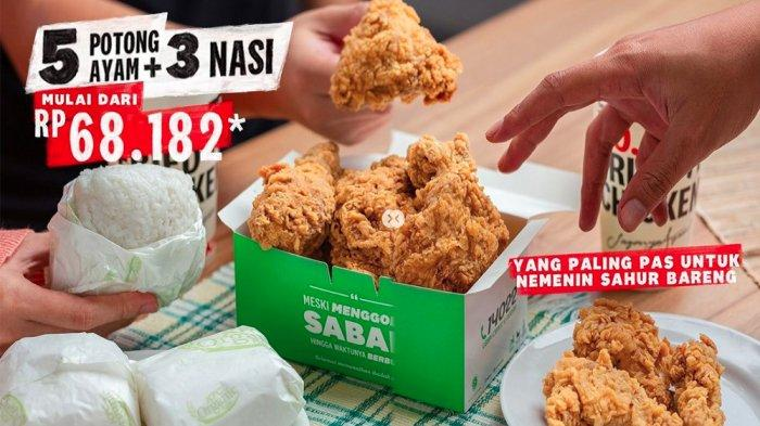 PROMO KFC Terbaru Hari Ini 28 April 2021, Makan Nikmat 5 Ayam + 3 Nasi Cuma 68 Ribuan KFC Terdekat