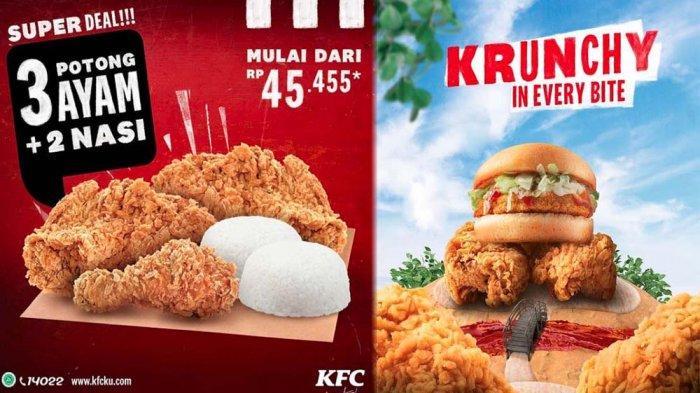 PROMO KFC Terbaru Hari Ini 30 Juni 2021, Menu Krunchy Burger & Super Deal Menu 3 Potong Ayam 2 Nasi