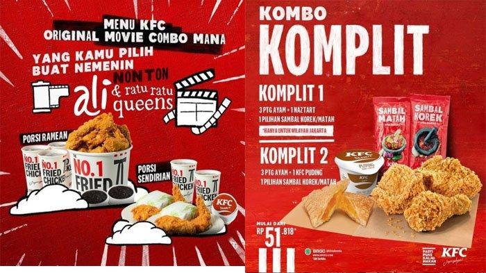 PROMO KFC Terbaru Hari Ini 6 Juli 2021, Puas Makan KFC Original Movie Kombo & Kombo Komplit 3 Ayam