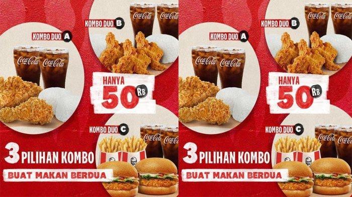 PROMO KFC Terbaru Hari Ini 7 September 2021, Nikmati Paket Kombo Duo Hanya 50 Ribu di KFC Terdekat