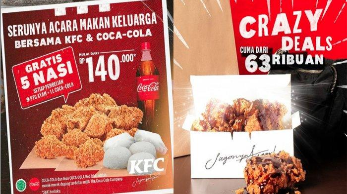 PROMO KFC Terbaru Hari Ini 8 Juni 2021, Beli 9 Potong Ayam KFC + 1 Liter Coca-cola Gratis 5 Nasi