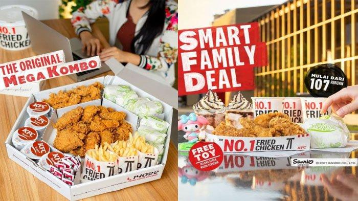 PROMO KFC Terbaru Hari Ini Senin 4 Oktober 2021, Nikmati Paket Lengkap Mega Kombo Hemat Banget
