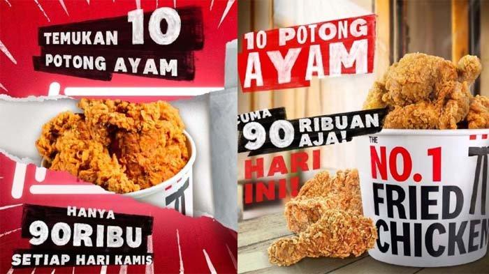 PROMO KFC Khusus Hari Ini Kamis 8 Juli 2021, Promo TBT Pesan 10 Ayam Goreng Favorit Hanya 90 Ribuan